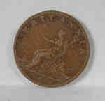 1 Pence 1807 British, King George III coin