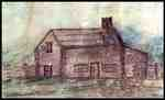 Sketch of the William Riley Log House- C. 1880&nbsp;