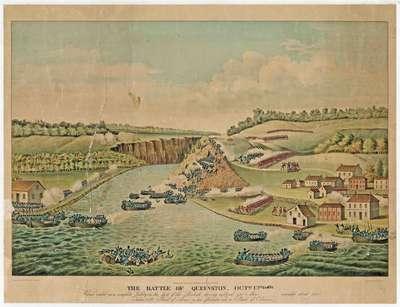 Battle of Queenston Heights Engraving: Oct. 13, 1813