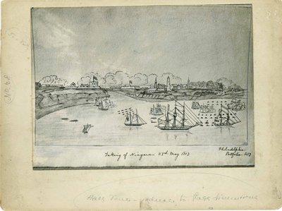 Taking of Niagara Drawing