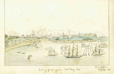 Battle of Fort George Watercolour Painting