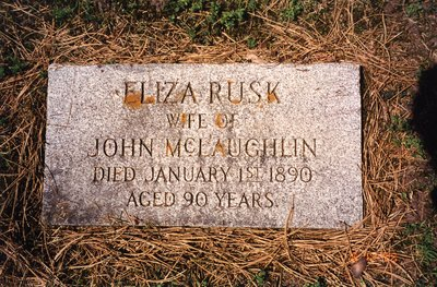 LH0609 Headstone for Eliza Rusk, wife of John McLaughlin