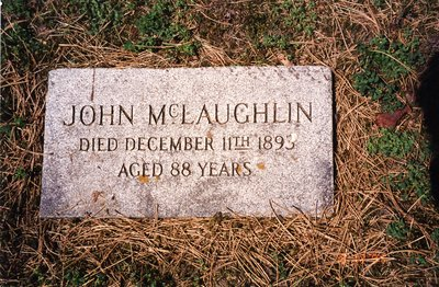 LH0612 Headstone for John McLaughlin