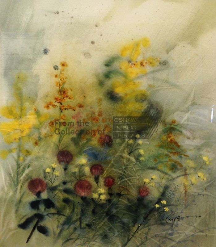 """Late Summer,"" 1960, watercolour on paper, by Marjorie Piggott. Courtesy the Oshawa Public Libraries."