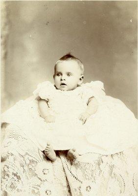 LH2673 Baby portrait taken in Putney Studio, King Street, Oshawa.