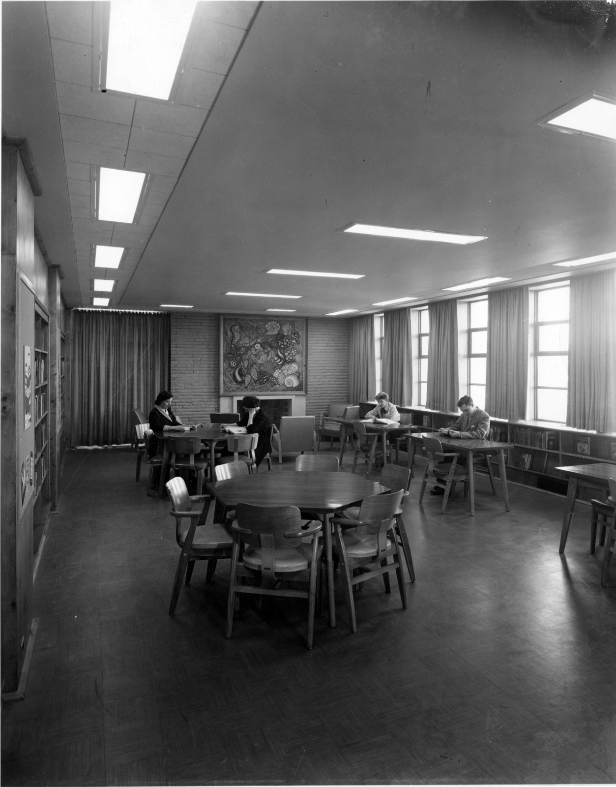 Private Library Study Rooms: LH2970 Oshawa Public Libraries, McLaughlin Branch, 1958