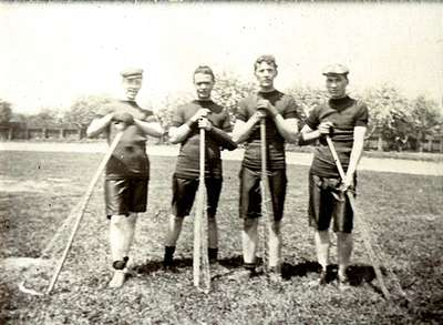 "LH0895 ""Group of Oshawa Lacrosse Players"""