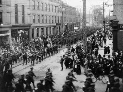 LH2157 116th Battalion on King Street