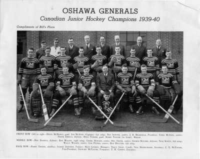 LH2511 Oshawa Generals Hockey Team, 1939-1940