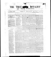 True Royalist and Weekly Intelligencer (Windsor, ON: Reverend Augustus R. Green; Samuel V. Berry, assistant editor.), June 21, 1861