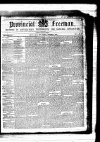 Provincial Freeman (Toronto and Chatham, ON: Mary Ann Shadd Cary (October 9, 1823 – June 5, 1893)), September 2, 1854