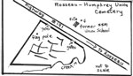 Map of Rosseau-Humphrey Union Cemetery by Sarah Neal April 2004 - CE0002