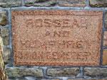 Rosseau Cemetery - Rosseau and Humphrey Union Cemetery Plate  - JSA0022