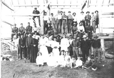 Joe Ariss' Barn Raising at Maple Grove Farm - RF0002