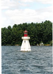 Lighthouse with Rosseau Lake College dock in background Aug. 95 - RL0001