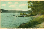 Along the Lake-Shore, Lake Rosseau, Muskoka Lakes, Ontario, Canada - RL0037