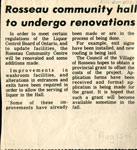 Rosseau Community Hall Renovations - RM0022