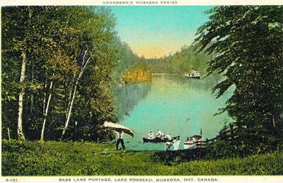 Bass Lake Portage Lake Rosseau  - RL0042