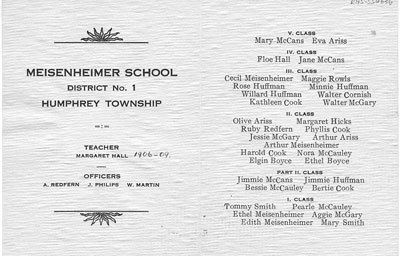 Humphrey - Meisenheimer School Souvenier from Margaret Hall (b.) - SS0063b
