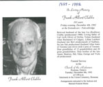 In Loving Memory of Frank Albert Clubbe - RP0033