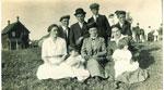 Sirett (Ashdown), Eliza M.  with 2 ladies, 2 children and the Jackson Boys - RP0029