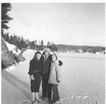 Brown, Patricia, with C. Oliver Beley and Eileen (Lake) Beley - 1962 - RP0482