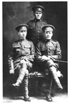 (l to r) Unknown soldier; Presley, Lee; Grenke, Ernest Guss - Vets WW I - RP0094