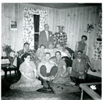 Card Party at #3 Grand St (Bill Adams Home)  - 1955 - RP0473