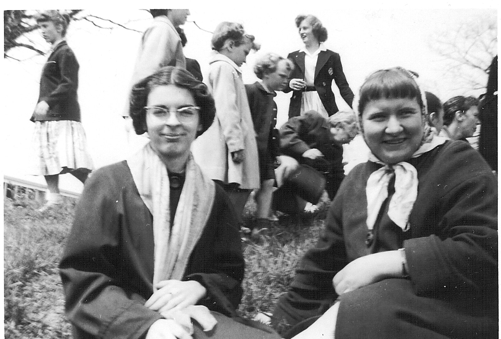 K-12 students in Parry Sound, in the late 1950s. Courtesy the Rosseau Historical Society.