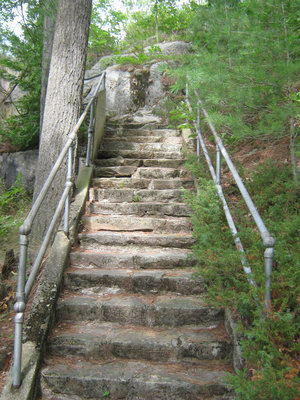 Stonemasonry - #1967 Bright Street - Rosseau Lake College - West Gate stairs - RI0154