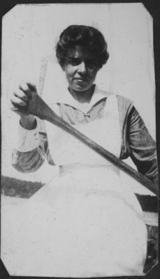 Nurse canoeing near Fettercairn