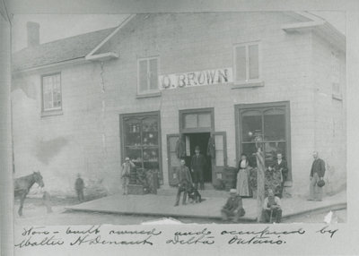 Omer Brown Store in Delta c. 1900