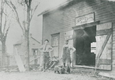 John N. Davis' Blacksmith Shop c.1910