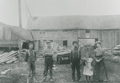 Eli Chant's sawmill in Chantry c.1910