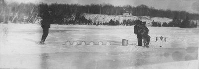 Winter game on Indian Lake