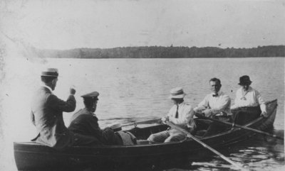 Rowing in a skiff on Indian Lake