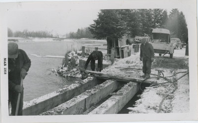 Carpentry Gang Removing Bridge