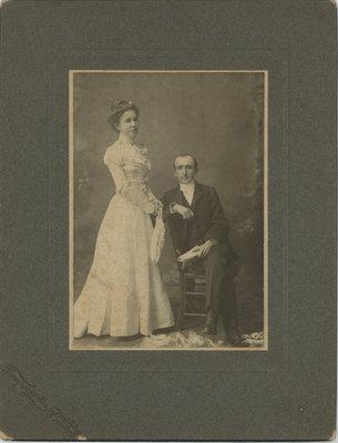 Wedding Portrait of William Warner Phelps and Ella Halladay Phelps