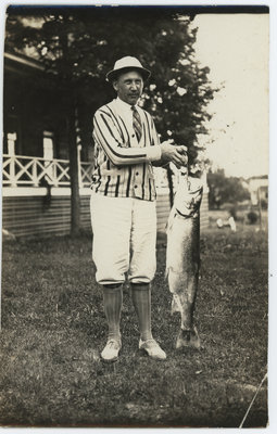 Bev Friar With Large Salmon