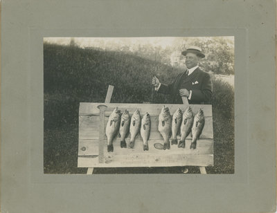 Colonel Dillon with fish