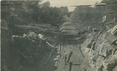 Building the Canadian National Railway near Chaffey's Lock
