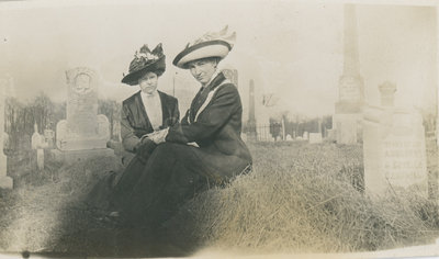 Women at Halladay Cemetary