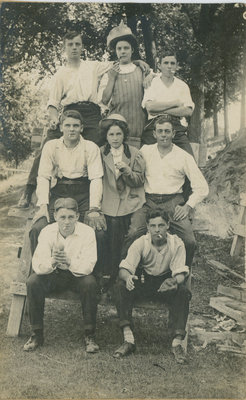 Group at Chaffey's Lock