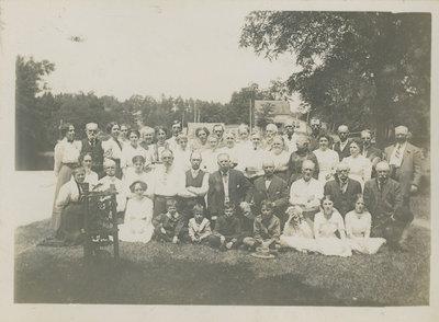 Group portrait of Chaffeys Lock lawn