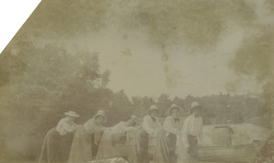 Group of women at Chaffeys Lock, Ontario