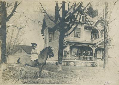 Seaman's House in Chantry, Ontario around 1907.