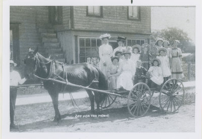 Women and children going to a picnic in Newboro