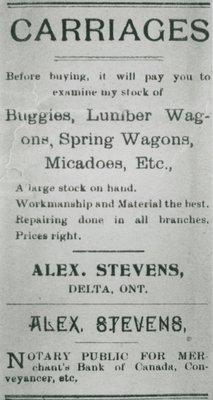 Advertisement in Delta Pilot 1905
