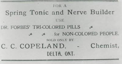 Advertisement in Delta Pilot 1905