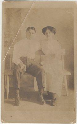 Herman Warren and friend